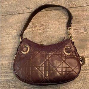 CHRISTIAN DIOR Leather Cannage Shoulder Bag